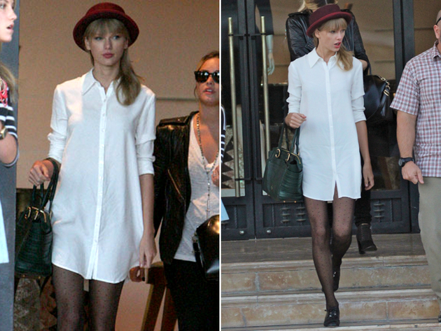 Taylor Swift No Pants Look