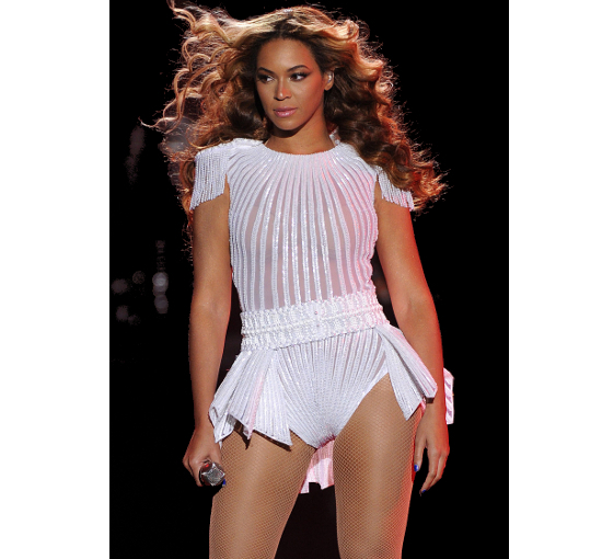 Beyonce The Mrs. Carter Show World Tour White Leotard