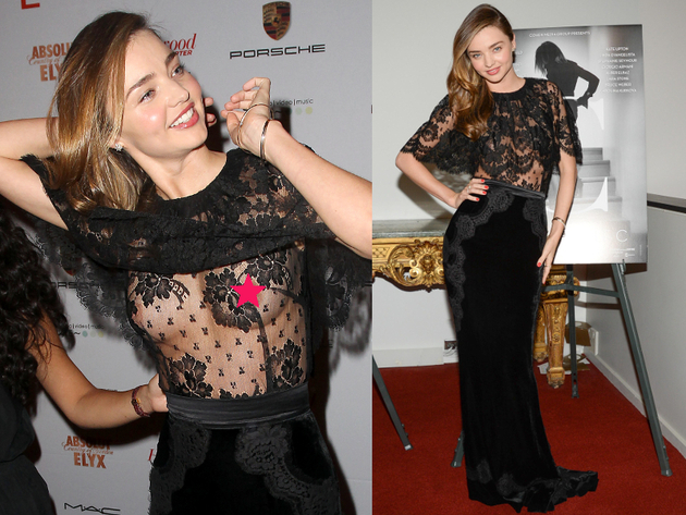 Miranda Kerr Nip Slip In See Through Dress