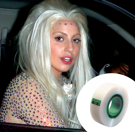 Lady Gaga Scotch Tape Glitter Remover
