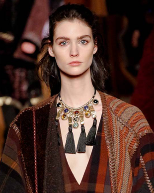 Etro Fall 2014 Tribal Necklace