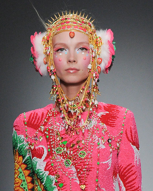 Manish Arora Fall 2014 Tribal Necklace