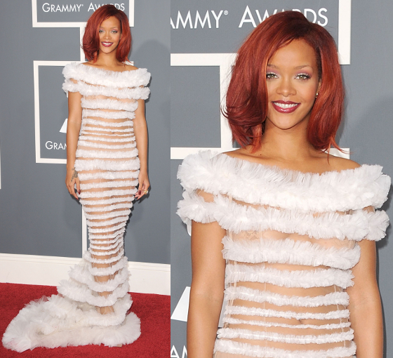 Rihanna 2011 Grammys Dress