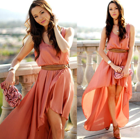 Wedding Guest Outfit High Low Dress