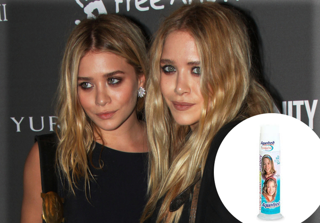 The Olsen Twins Aquafresh Bubble Cool Toothpaste