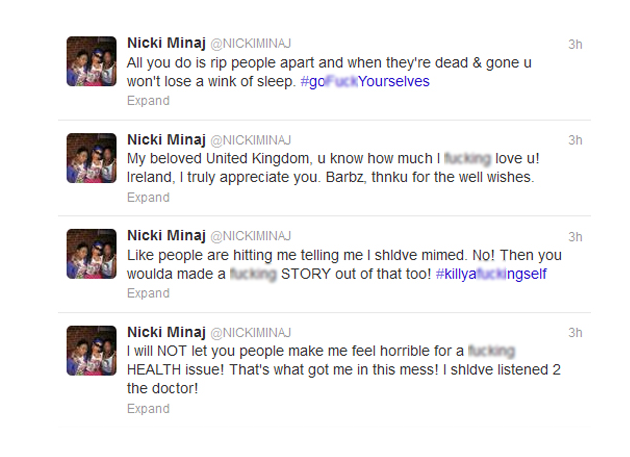 Nicki Minaj Twitter Meltdown