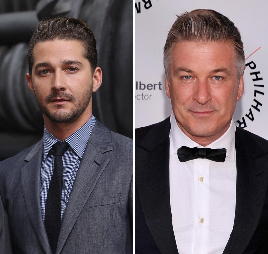 Shia La Beouf And Alec Baldwin