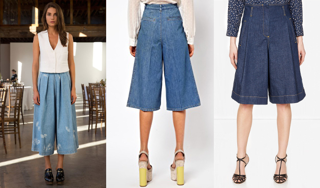 Wearing Denim Culottes