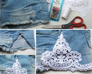 Whether you like your jean shorts cuffed or with extra fringe, find out how to make them yourself from your old denim, with a few easy to follow instructions.