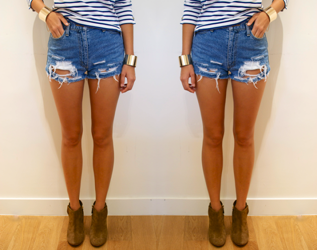 Easy Denim Cut Off Shorts