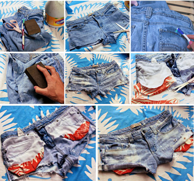 Making Denim Cut Off Shorts