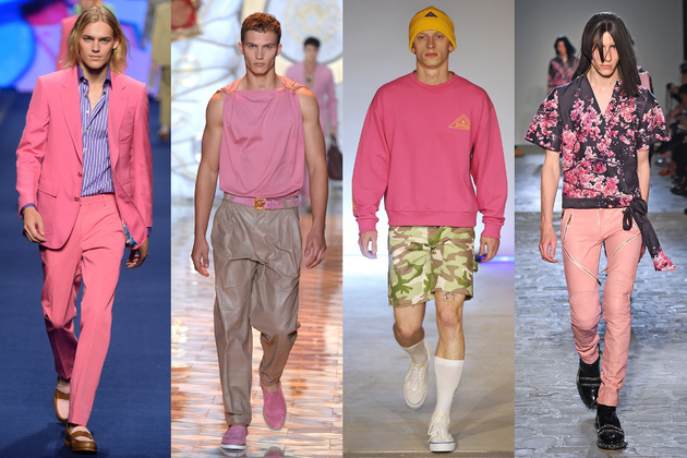 Mens Pink Trend Ss 2015