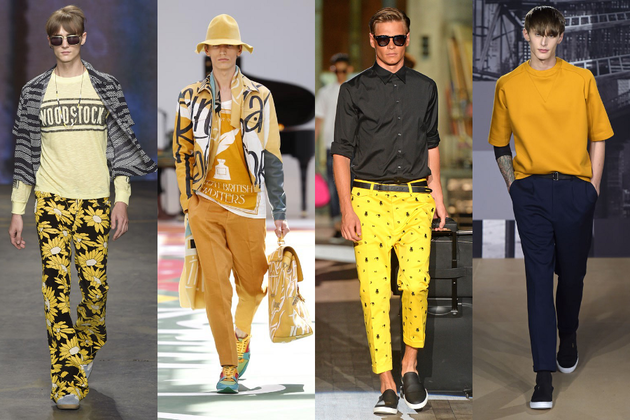 Mens Yellow Trend Ss 2015