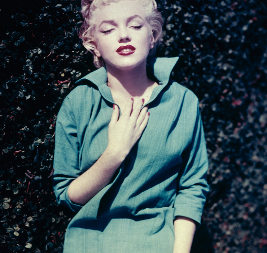Marilyn Monroe In Her Backyard
