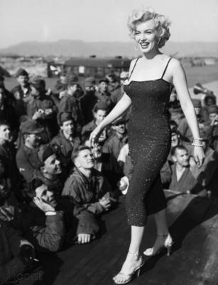 Marilyn Monroe Performing For Troopers