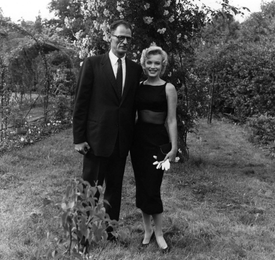 Marilyn Monroe With Husband Arthur Miller