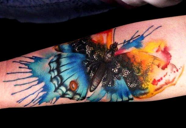 Butterfly Watercolor Tattoo