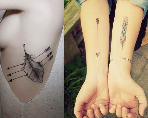 Feather Arrow Tattoos