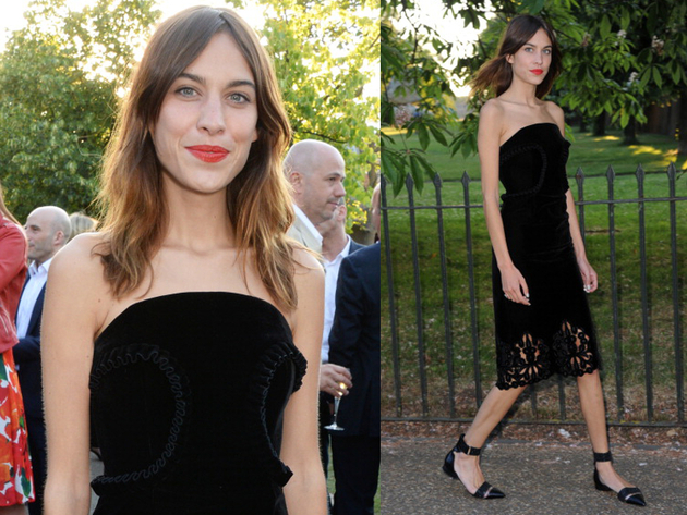 Alexa Chung Serpetine Party Outfit