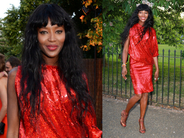 Naomi Campbell Serpetine Party Outfit