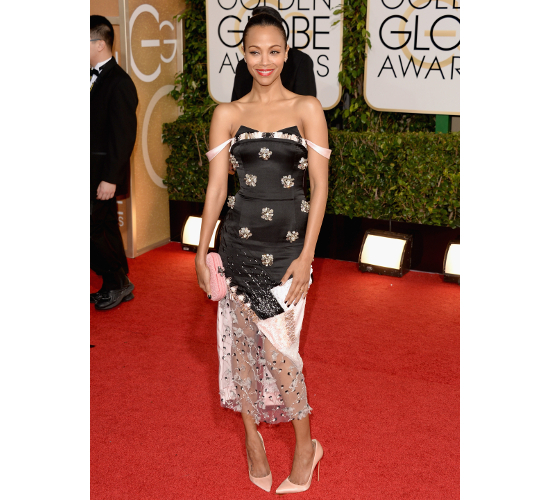 Zoe Saldana 2014 Golden Globe Awards