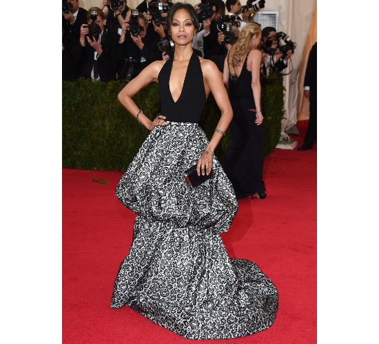 Zoe Saldana 2014 Met Costume Institute Gala
