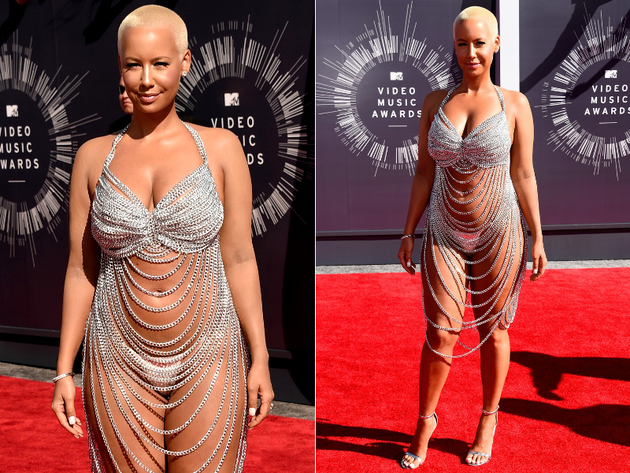 2014 Mtv Vmas Amber Rose Chain Dress