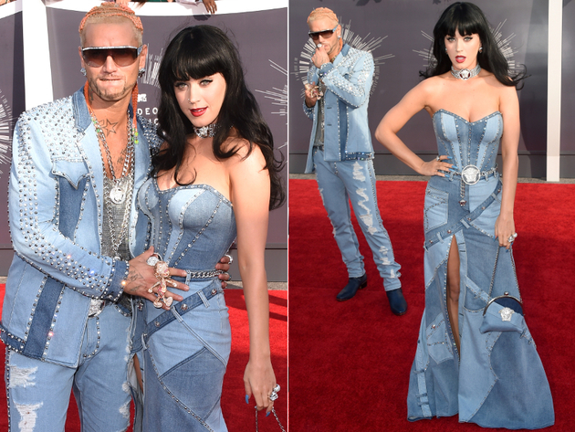 2014 Mtv Vmas Katy Perry Denim Dress