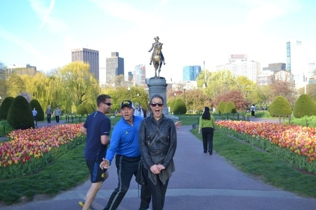 Kevin Spacey Photobombing While Jogging