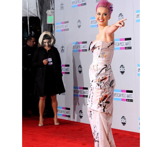 Creepy Lady Gaga Photobombing Katy Perry