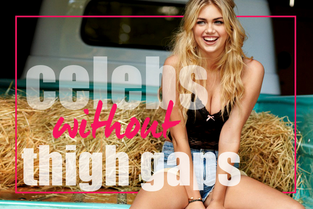 Celebrities Without a Thigh Gap