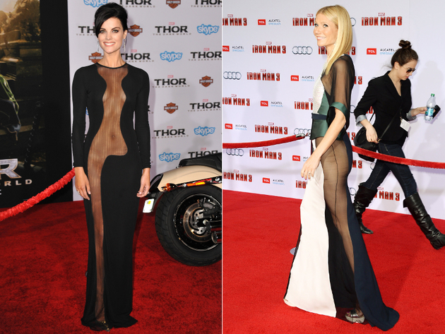 Sheer No Panty Dresses Worst Celebrity Fashion Trends