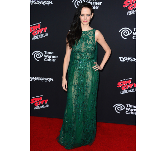 Eva Green Dress Sim City Premiere