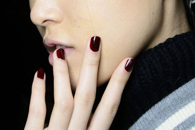Dark Red Nail Color Fall 2014