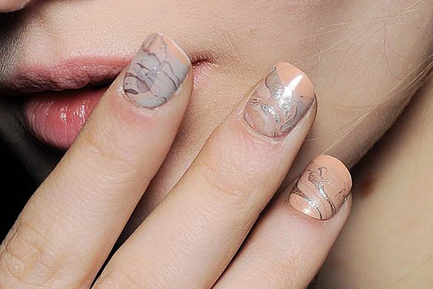 Marbled Nails Fall 2014