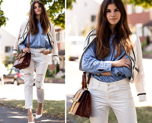 More than a summer staple, white jeans are quickly becoming fashionable all year round. Learn  how to find the perfect pair for your shape and accessorize them.