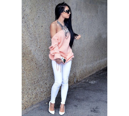 White Jeans For Hourglass Figure