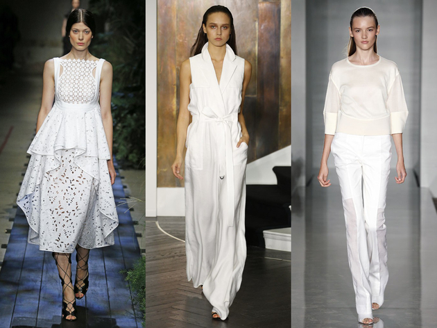 All White Spring 2015 Trend London Fashion Week