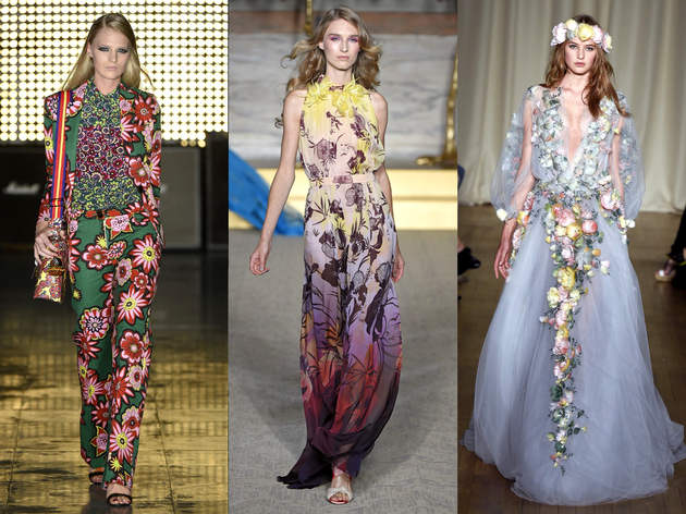 Floral Prints Spring 2015 Trend London Fashion Week