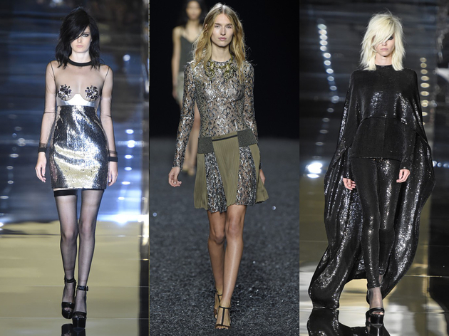 High Shine Fabrics Spring 2015 Trend London Fashion Week