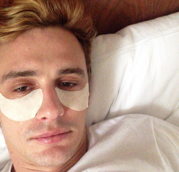 James Franco Eye Pads Selfie