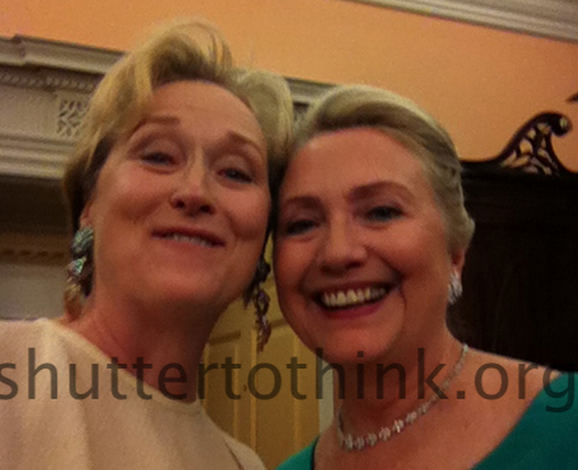 Meryl Streep And Hillary Clinton Selfie
