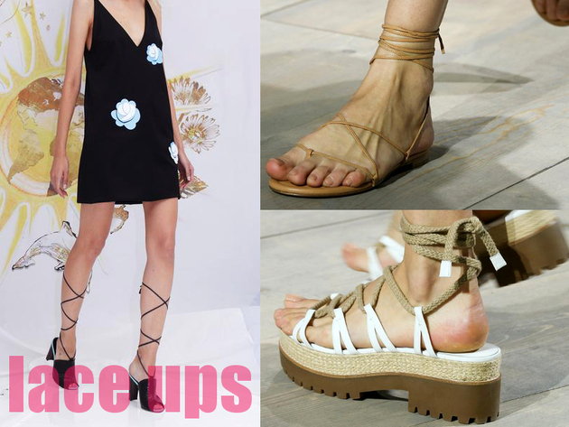 Lace Up Sandals Best Spring 2015 Trends From New York Fashion Week