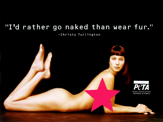 Christy Turlington For Peta Campaign