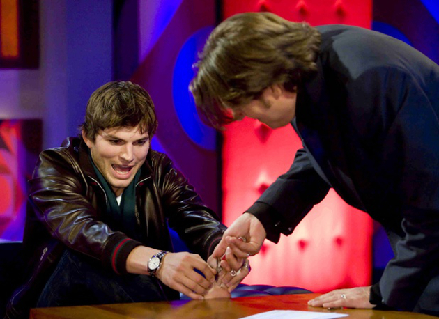 Ashton Kutcher Webbed Feet