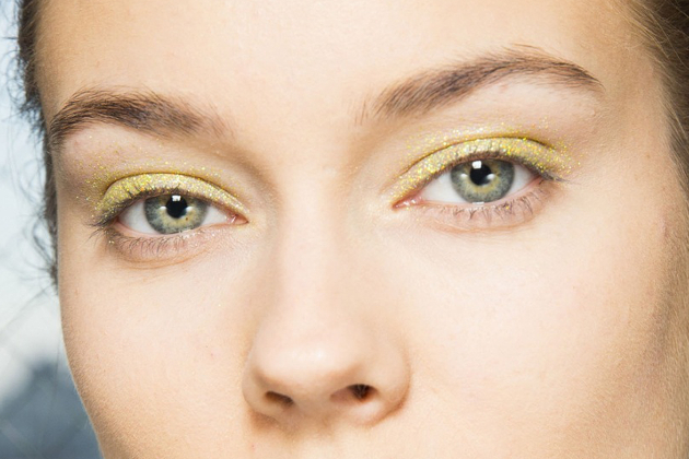 Green Glitter Makeup Fall 2014