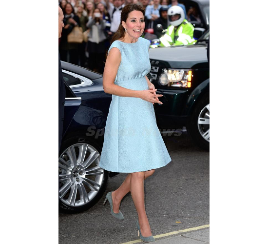 Kate Middleton Maternity Blue Emilia Wickstead Dress