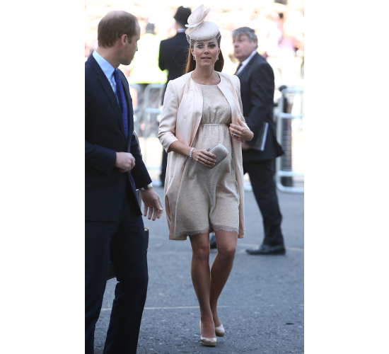 Kate Middleton Maternity Muted Pink Outfit
