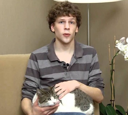 Jesse Eisenberg Cat Lover