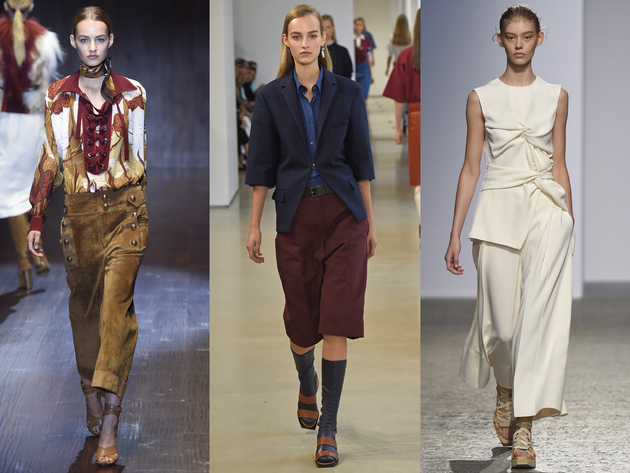 Culottes Spring 2015 Runway Trends Milan